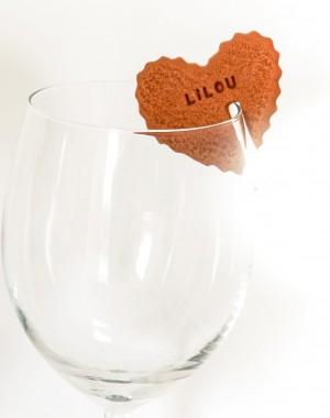 marque-places biscuit gravée prenom baptême