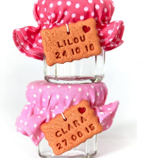 Très Petit pot de dragées, biscuit confiture - La fabrique de Méline OQ57