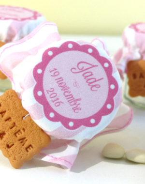 contenant de dragées personnalisé, biscuit