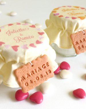 contenant de dragées personnalisé mariage coeur