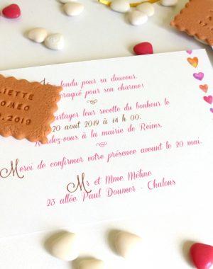 faire-part mariage gourmand petit-beurre