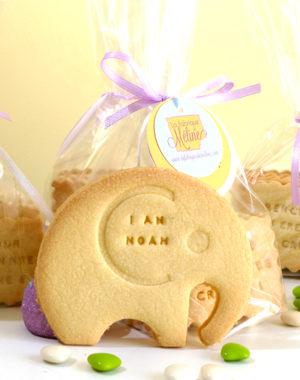 biscuit éléphant personnalisé prénom