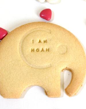 Biscuit sablé éléphant personnalisé