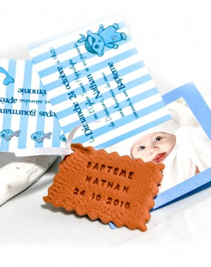 Faire-part biscuit, petit pirate