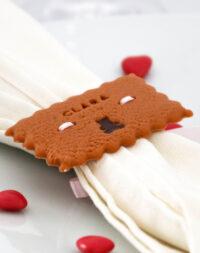 """Biscuit """"marque-place"""", rond de serviette"""