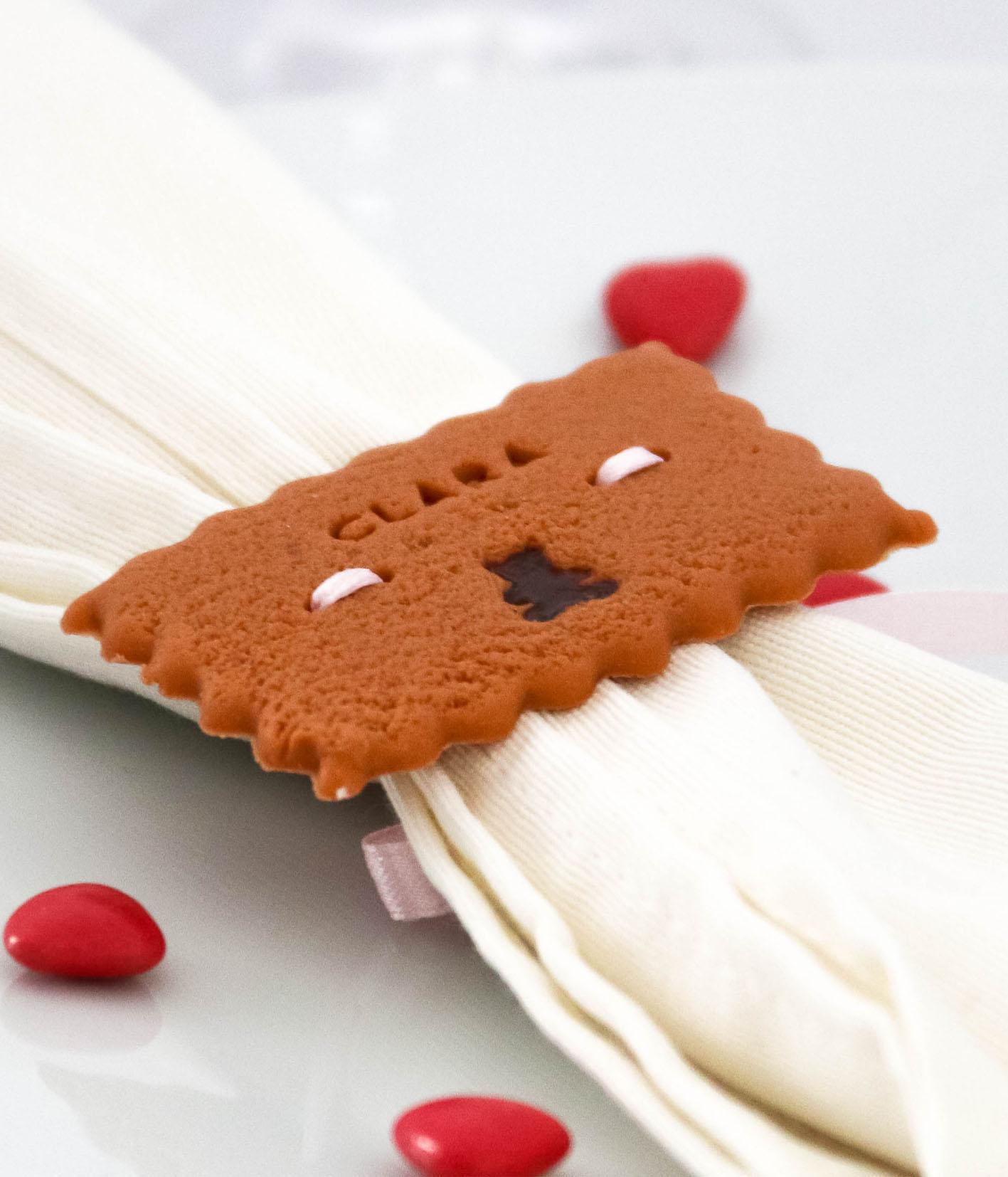 marque-place biscuit personnalisé rond de serviette