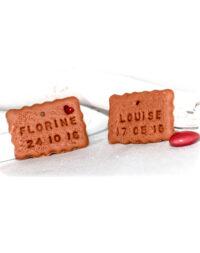 * Mini biscuit personnalisé (idéal pour décorer petit pot de dragées)