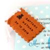 faire-part biscuit ourson chocolat