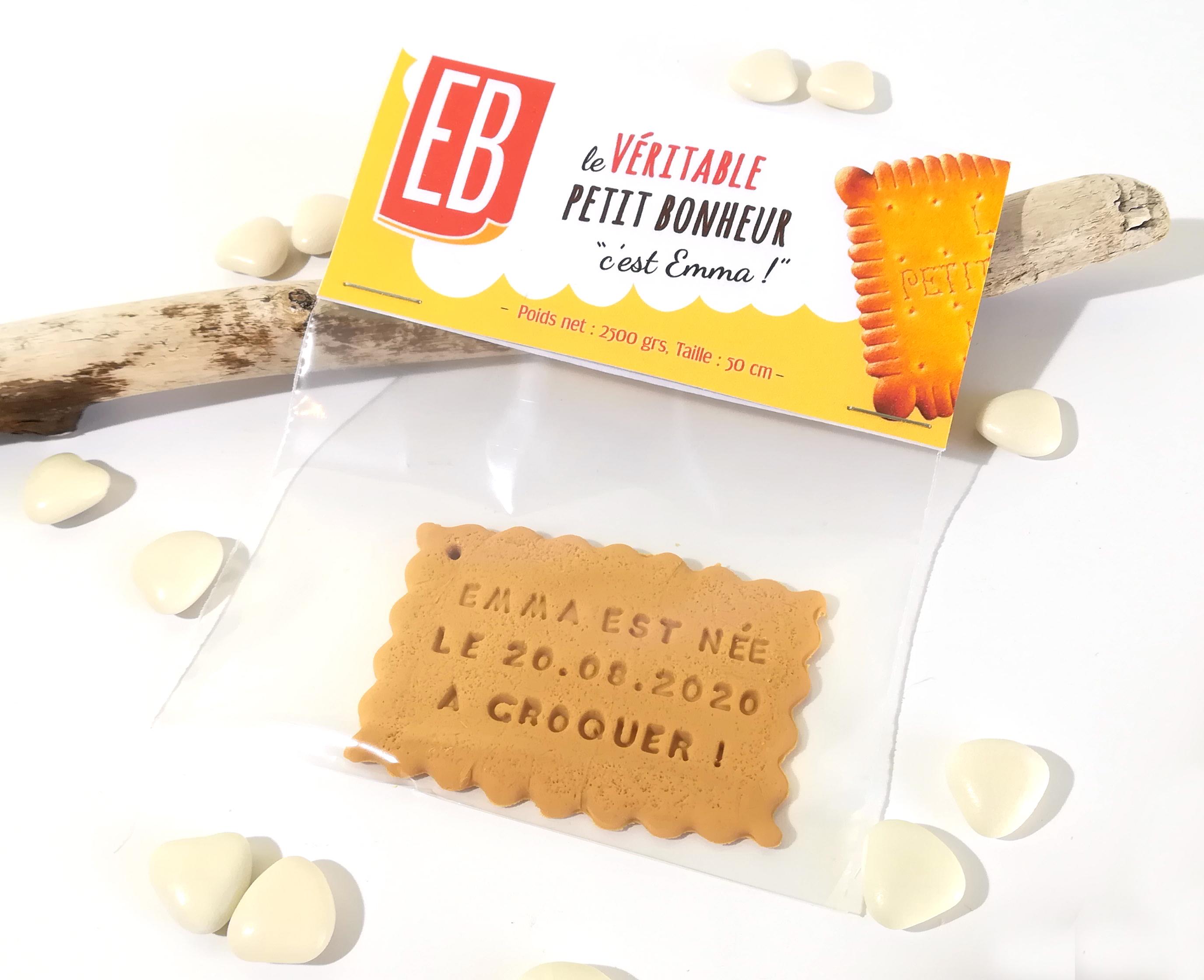 faire-part naissance nantais, breton, biscuit, gourmand, gourmandise