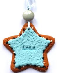 Etoile de Noël, suspension pour sapin avec prénom