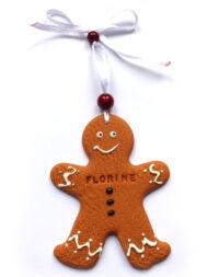 Bonhomme pain d'épice de Noël, gravure prénom