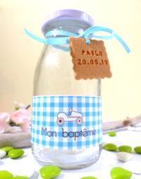 """Mini-bouteille de lait, """"garçon"""""""