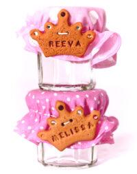 """Petit pot de dragées, biscuit """"couronne de princesse"""""""