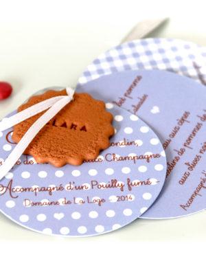 Menu biscuit rond prenom