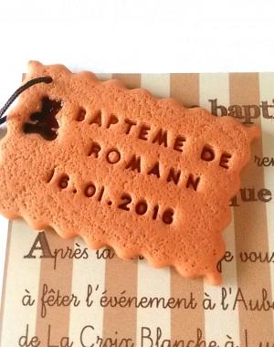 """Faire-part biscuit """"thème ourson"""""""