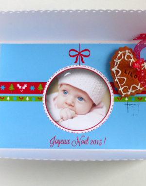carte de voeux photo bébé