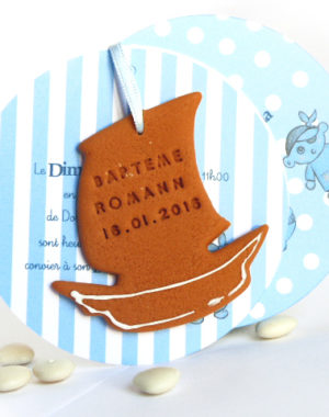 "Faire-part pirate & biscuit ""petit navire"""