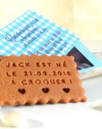 """Faire-part """"coeur chocolat"""", étiquettes garçon"""