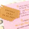 faire-part, invitation, bapteme, naissance, beau, moderne, biscuit, gourmandise