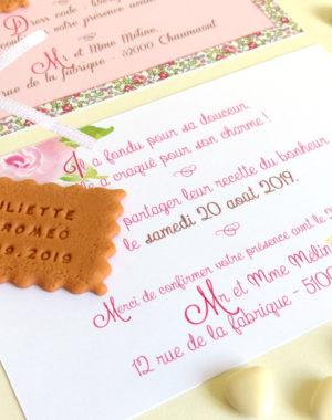faire-part mariage original thème fleuri