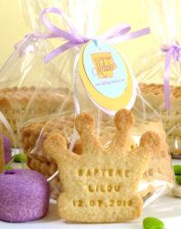 Biscuit couronne de princesse, à personnaliser et déguster !