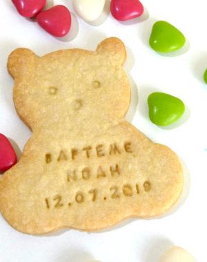 Biscuit ourson personnalisé