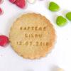 Biscuit rond personnalisé
