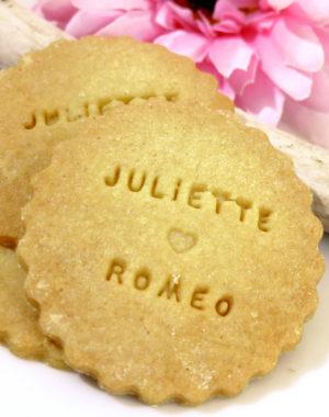 biscuit rond sablé personnalisé