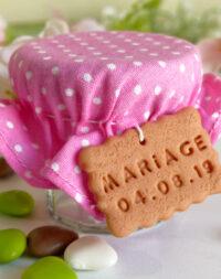 Contenant de dragées pour mariage, pois rose ou fushia