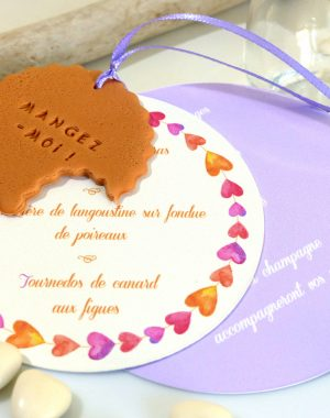 Menu biscuit rond