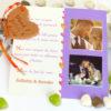 remerciement mariage carré biscuit