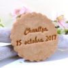 biscuit rond mariage, personnalisé