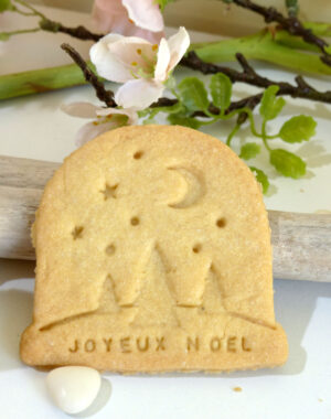"""x10 Biscuits sablés """"boule de neige"""" personnalisées"""