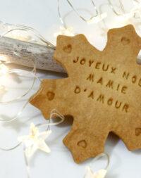 """x10 Biscuits sablés """"flocon personnalisé"""""""