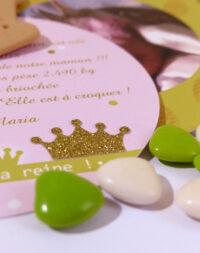 """Faire-part """"princesse/reine"""""""