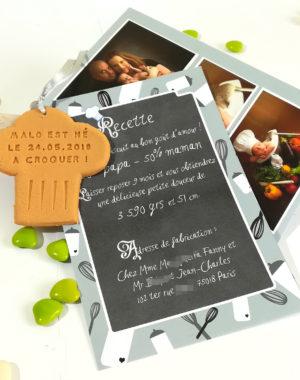 "Faire-part ""petit cuisinier"""