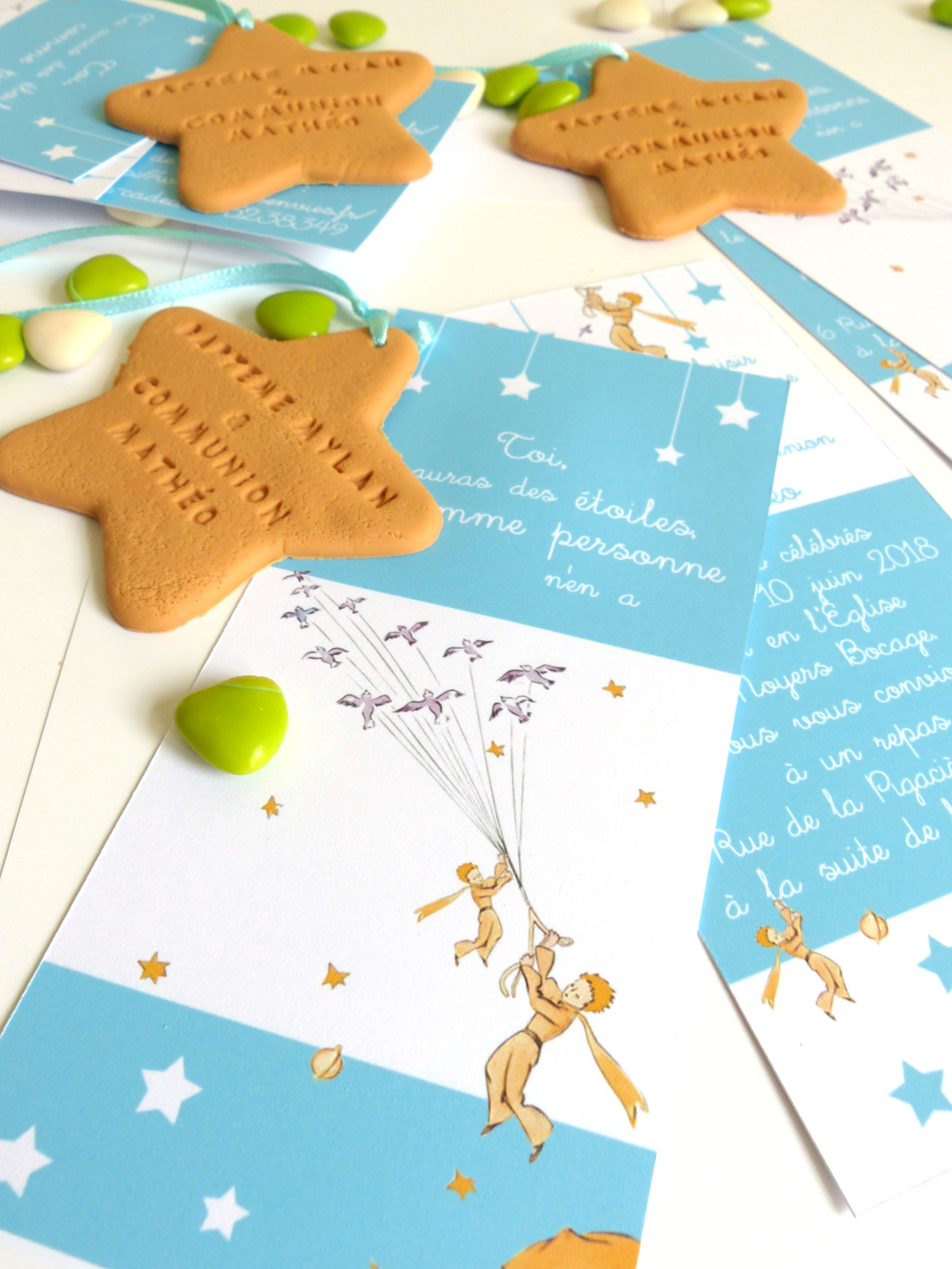 """faire-part, invitation, thème """"petit prince"""""""