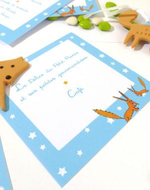 """biscuit personnalisé renard. Thème original """"petit prince"""""""