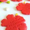 hibiscus, personnalisé prénom, date, baptême, mariage, flamingo, tropical