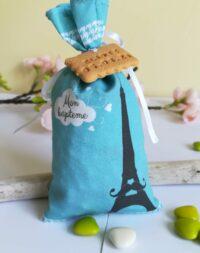 """Sachet de dragées garçon, """"Paris-la tour Eiffel"""""""