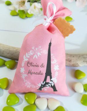 """Sachet de dragées mariage, """"Paris-la tour Eiffel"""""""