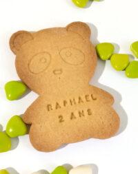 """Biscuit sablé """"panda"""" à personnaliser"""