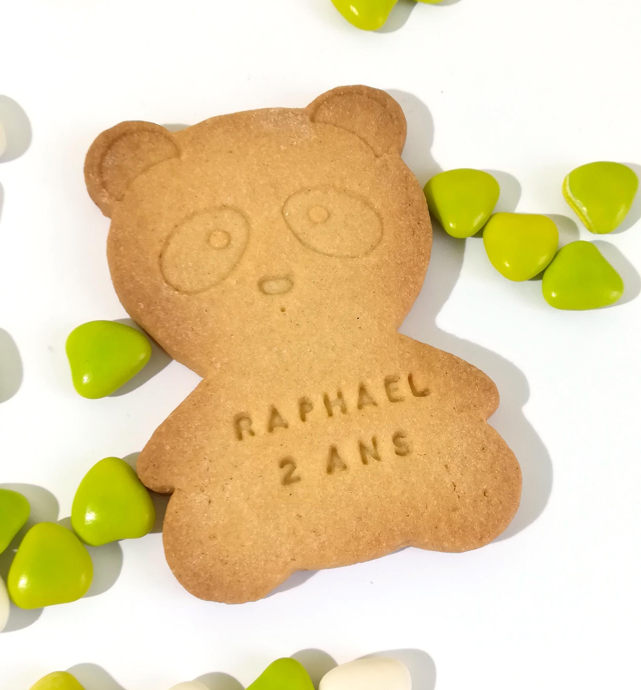 biscuit personnalisé panda