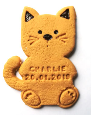 BISCUIT CHAT BAPTEME, aimant