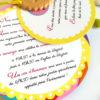 faire-part mariage thème gourmandise, biscuit personnalisé