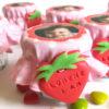 petit pot dragées thème fraise