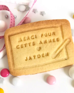 """Biscuit sablé """"ardoise"""" (cadeau idéal pour la maitresse !!)"""