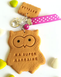 Porte-clés biscuit hiboux/chouette