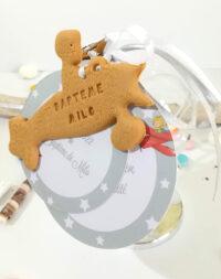 Mappe-monde pour dragées, biscuit avion