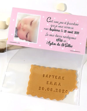 "Faire-part ""sachet gourmandise"", fille"